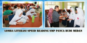 Lomba Literasi Speed Reading SMP Panca Budi Medan