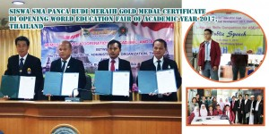 Andi Farras Thariq Hasibuan, Pelajar SMA Panca Budi Medan kelas XI MIA B berhasil meraih prestasi Gold Medal Certificate dalam kategori lomba Speech Competition pada Kegiatan Kompetisi The 13th Phatthalung Opening World Education Fair Of Academic Year 2017 pada tanggal 6 -  9 September 2017 di Phatthalung, Thailand.